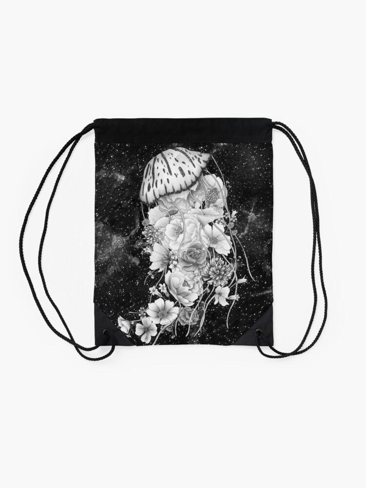 Alternate view of Magic Ocean: The Jellyfish Drawstring Bag
