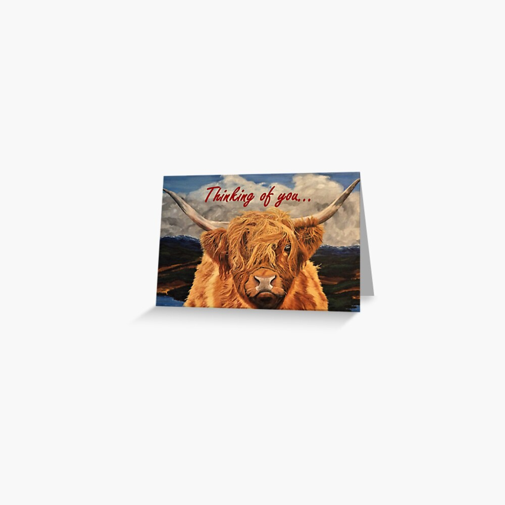 Highland Cow - Thinking of You Card Greeting Card
