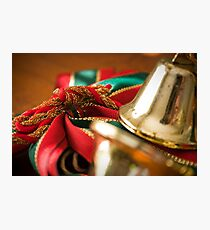Christmas Ribbon Photographic Print