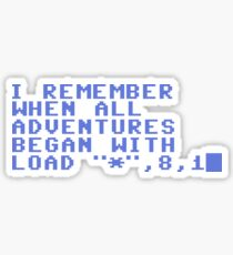 C64 Retro Sticker