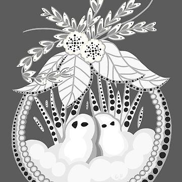Snowy Bird by Redvelvet4eVer