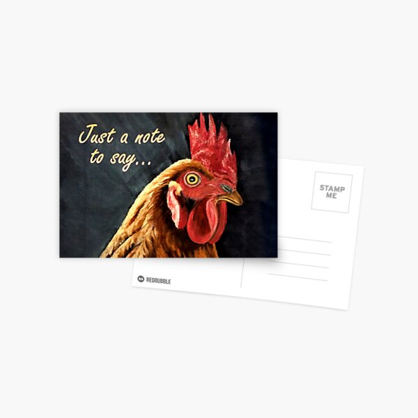 Red Hen - Just to Say... Card Postcard