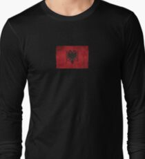 30047eeac Old and Worn Distressed Vintage Flag of Albania Long Sleeve T-Shirt
