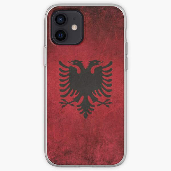 Old and Worn Distressed Vintage Flag of Albania iPhone Soft Case