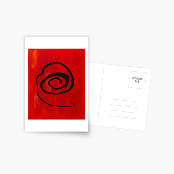 Poured Spiral Postcard