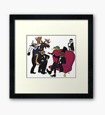 Classy animal party Framed Print