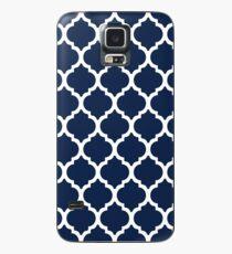 Navy Blue Quatrefoil Case/Skin for Samsung Galaxy