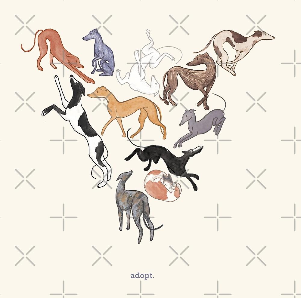 Greyhound Love - Adopt by tinaschofield