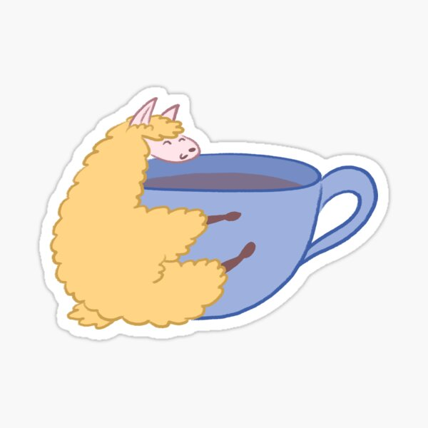 Oolong Hugging Cup Sticker