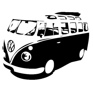 Old Style Camper Van Design by tidyware