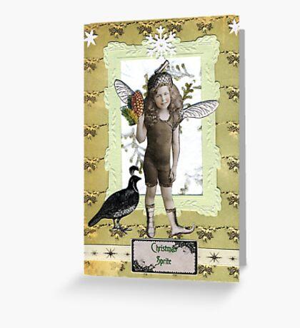 Christmas Sprite Greeting Card