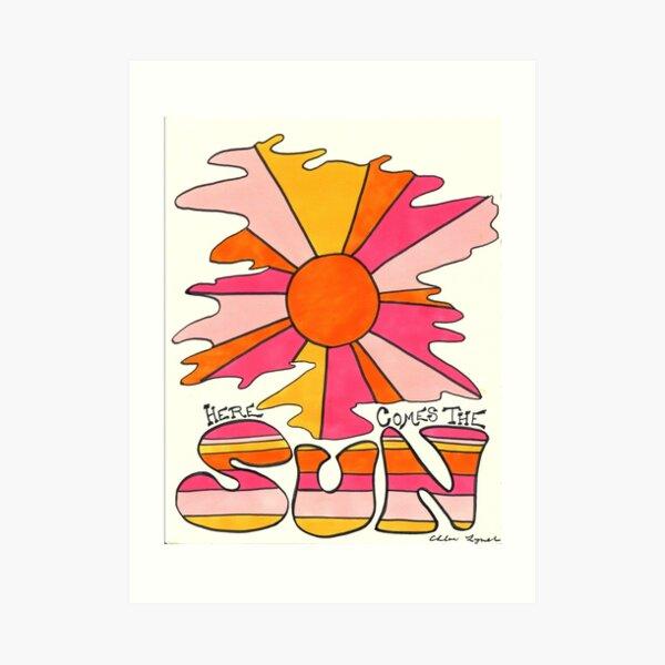 Aquí viene el sol Lámina artística