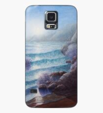 Moonlight Shore, watercolour seascape with ocean waves, shore, rocks and moonshine Case/Skin for Samsung Galaxy