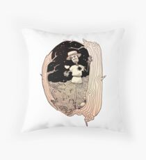 the lover puppet Throw Pillow