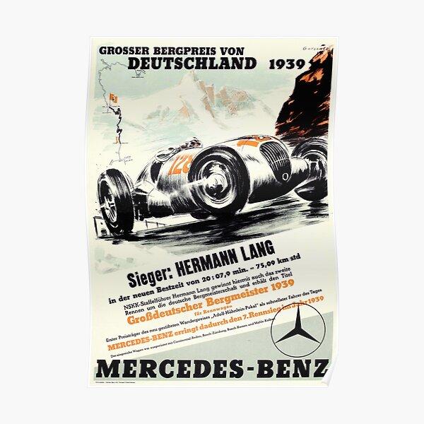 Vintage Deutschland Grand Prix 1939 Poster
