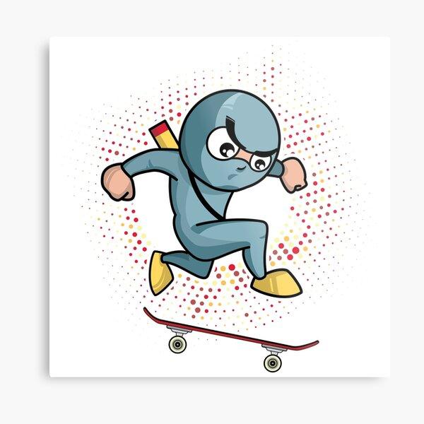 Ninko Ninja Popshuv . Skateboarding Showdown Metal Print