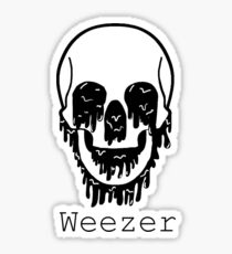 Weezer Black  Sticker