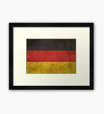 Old and Worn Distressed Vintage Flag of Germany Framed Print