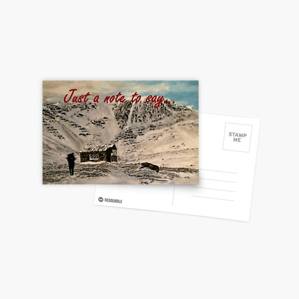 Scottish Mountain - Just a Note to Say... Card Postcard