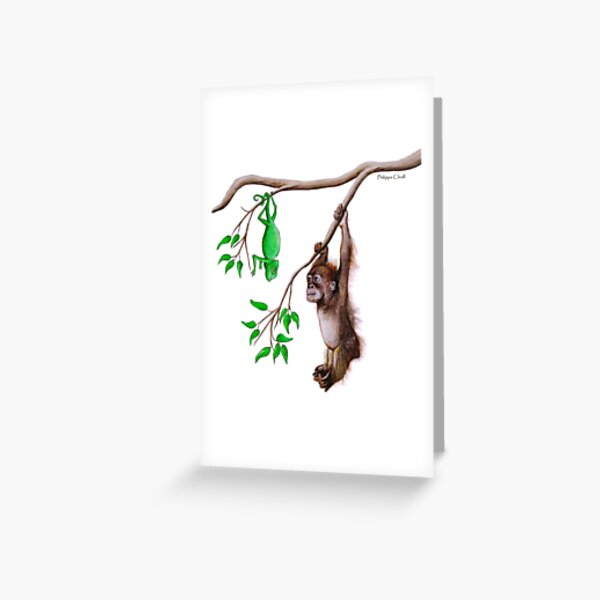 Hanging with a friend Greeting Card