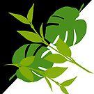 Tropical Leaves Halftone by GrimalkinStudio
