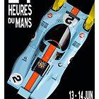 Porsche 917 Gulf 1970 Le Mans Poster by Speedbirddesign