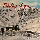 Scottish Mountain - Thinking of You Card by EuniceWilkie