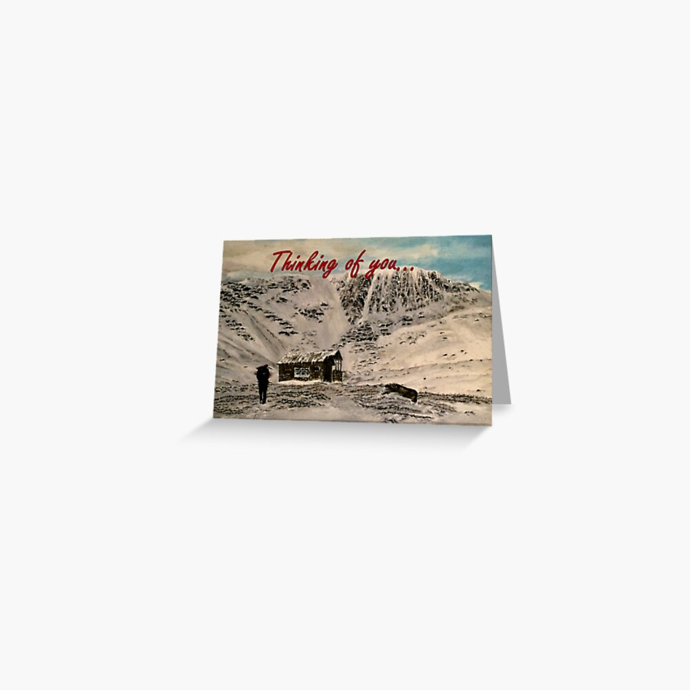 Scottish Mountain - Thinking of You Card Greeting Card