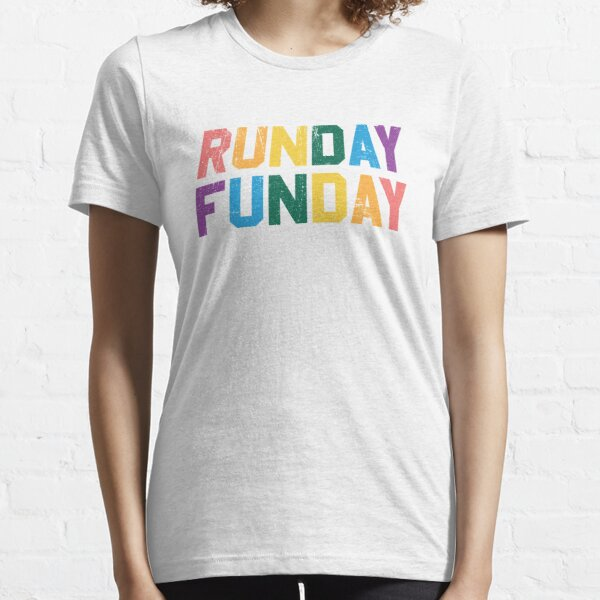 Runday Funday - Distressed Design for Runners  Essential T-Shirt