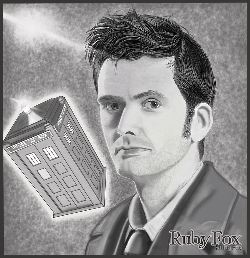 David Tennant, as Doctor Who by RubyFox
