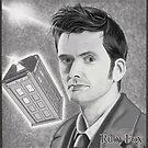 David Tennant, as Doctor Who by RubyFox
