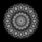Mandala in black and white by Agnes McGuinness
