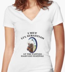 Li'l Sebastion Women's Fitted V-Neck T-Shirt