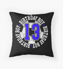 Soccer Birthday Gift 13 Year Old Throw Pillow