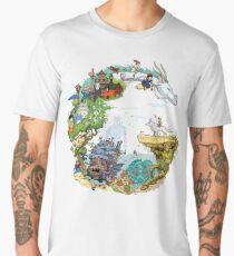 Tributfarbe (mit Beschriftung) Männer Premium T-Shirts