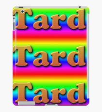 Rainbow Tard jpeg 3D text funny pride bad graphic design   Cooper Black iPad Case/Skin