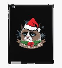 Santa Claws Christmas Sweater - Funny meow cats claws shirt as a gift idea iPad Case/Skin