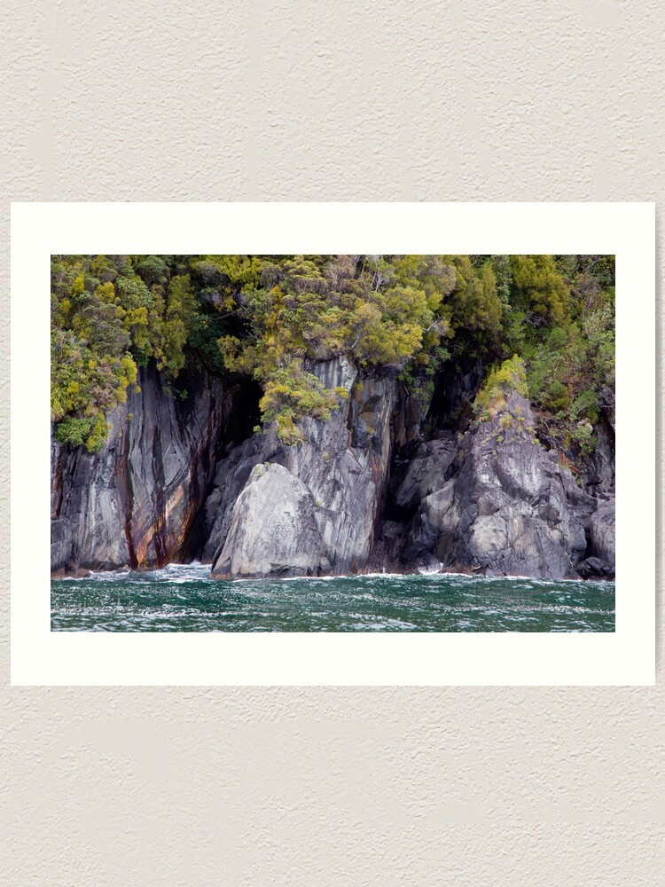 Alternate view of Green on Green, New Zealand Style Art Print
