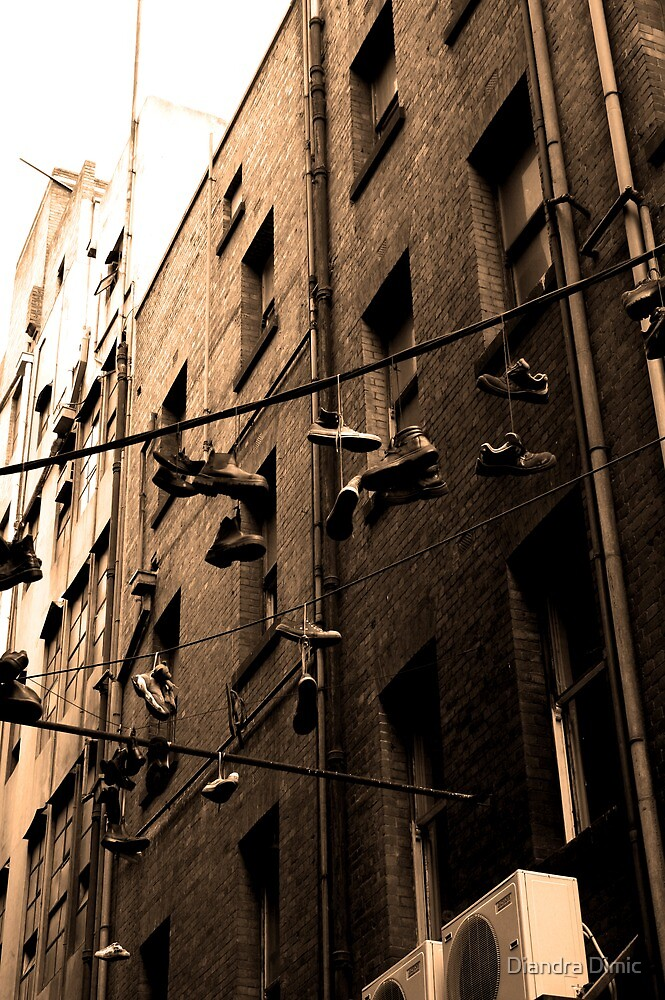 Hanging Shoes by Diandra Dimic