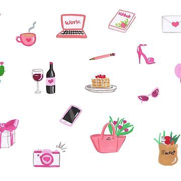 pink stickers by reyniramirezfi