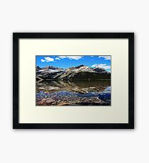 Bow Lake Painted Framed Print