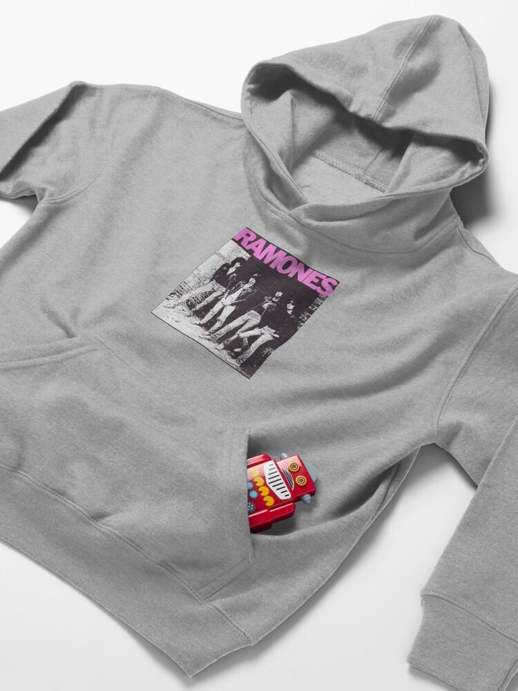 Alternate view of Ramones shirt from vinyl Kids Pullover Hoodie