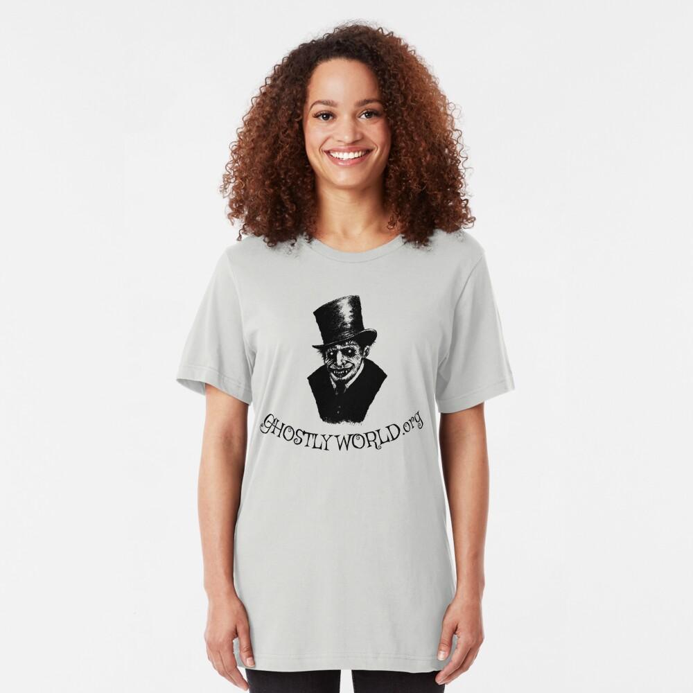 GhostlyWorld.org Logo Slim Fit T-Shirt