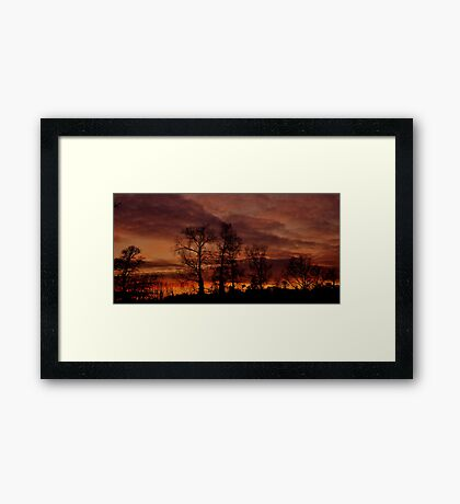 Winter Sunset #2 Framed Print