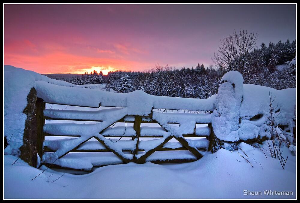 Snowy sunrise over Settle by Shaun Whiteman