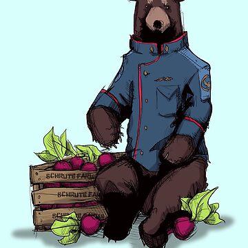 Bears, Beets, Battlestar Galactica by LVBART