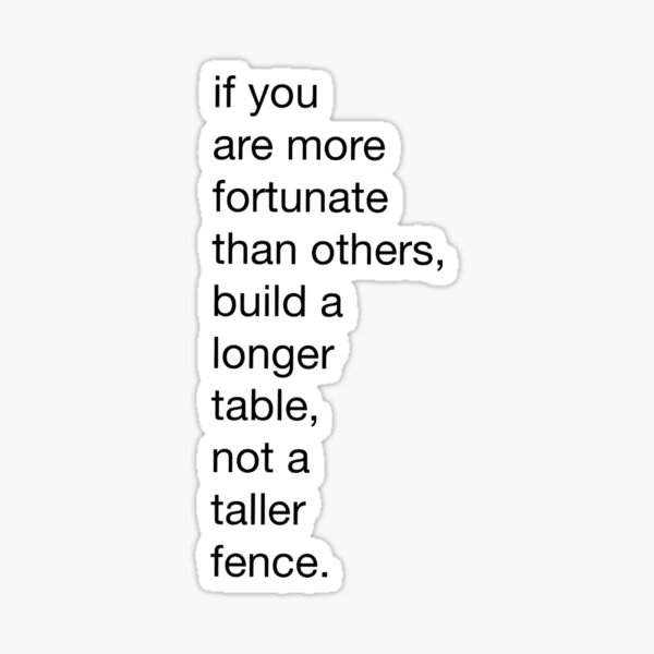 build a longer table Sticker