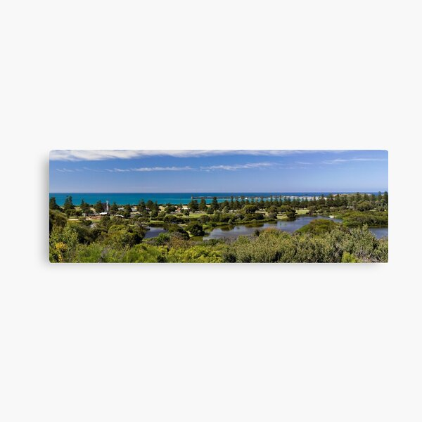 Lake Pertobe and breakwater from Cannon Hill Canvas Print