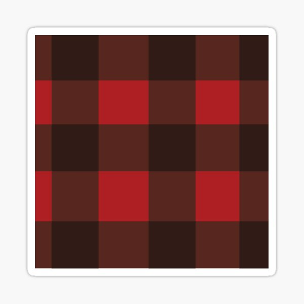 Red and Black Plaid Sticker