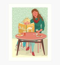 Learning to read Art Print